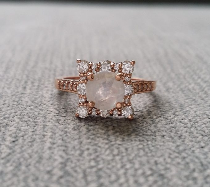 Where to Buy Antique Engagement Rings line on Etsy
