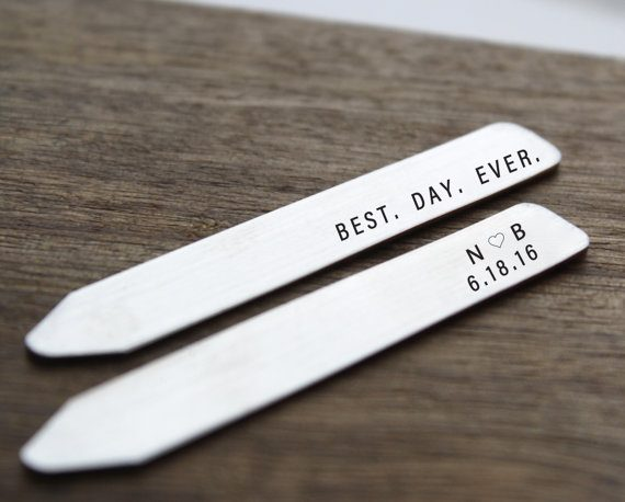 best day ever collar stays by sierrametaldesign