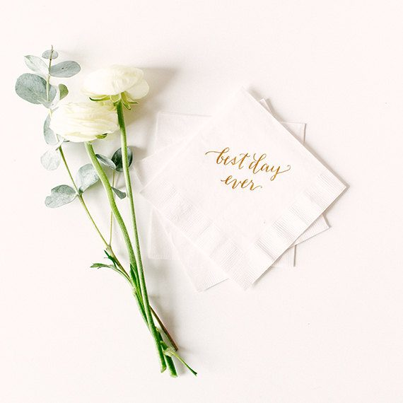 best day ever napkins by lhcalligraphy