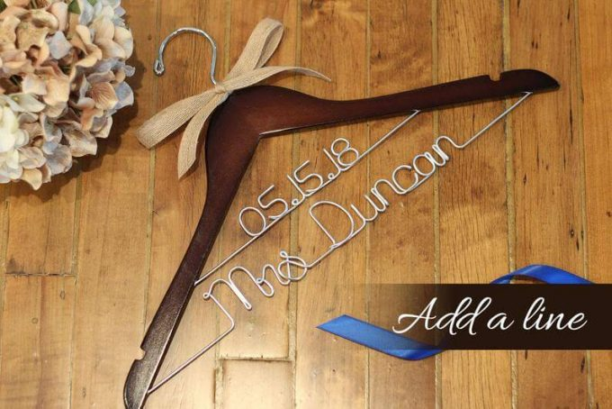 bridal hangers with name and date