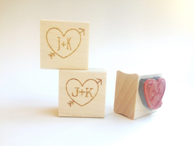 stamps | via Heart and Arrow Wedding Ideas: http://emmalinebride.com/themes/heart-and-arrow-wedding-ideas