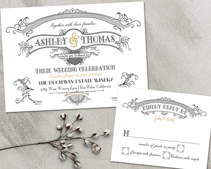 great gatsby via free wedding invitations giveaway | http://emmalinebride.com/2017-giveaway/giveaway-win-free-wedding-invitations/