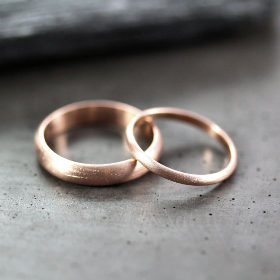 unique matching wedding bands