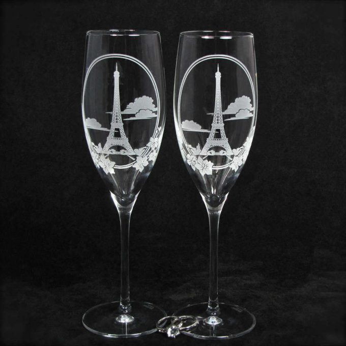 champagne glasses for wedding toasts | by the wedding gallery by brad goodell
