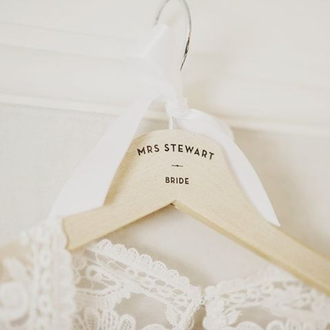 BRIDE   Love these personalized bride hangers! From TwoStoriesGiftshellip