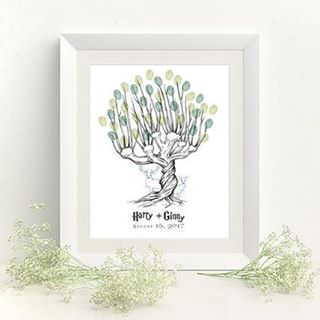Harry would approve   See this thumbprint tree guesthellip