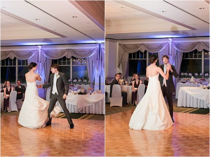 bride and groom's first dance at this Sedgefield Country Club wedding| Greensboro, North Carolina winter wedding photographed by Michelle Robinson Photography - http://emmalinebride.com/real-weddings/sedgefield-country-club-wedding/