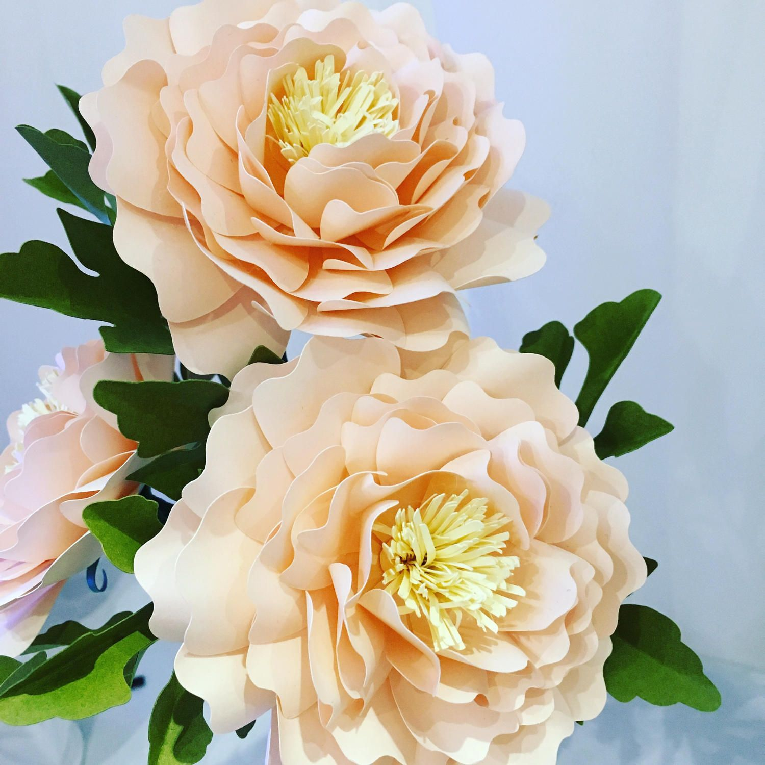 paper flower bouquets for weddings, backdrops, boutonnieres, paper flower decorations   by 2clvrdesigns on Etsy