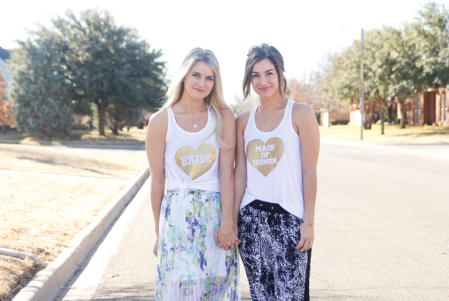 flowy bridal party tank tops