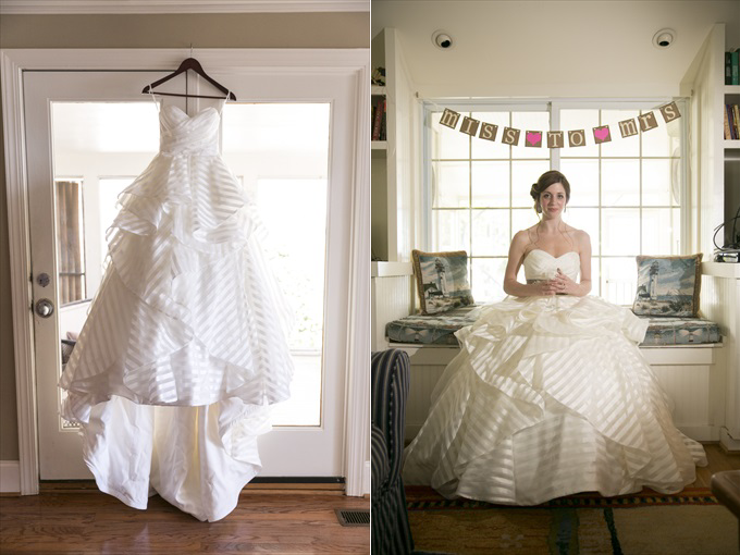 bride's wedding dress in this Crystal Coast Wedding | North Carolina wedding photographed by Ellen LeRoy Photography - http://emmalinebride.com/real-weddings/breathtaking-crystal-coast-wedding-mara-will-married