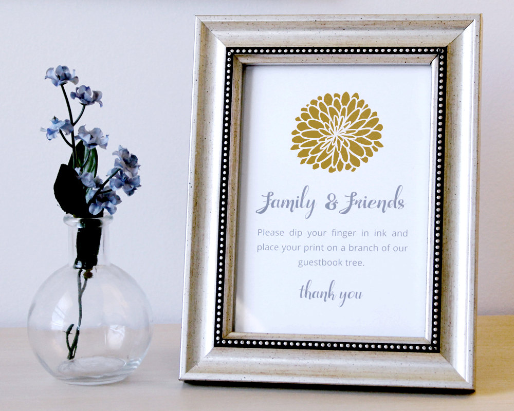 thumbprint tree guest book by Arcadia Artistry