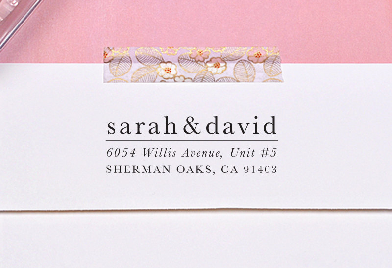 Return Address On Save The Dates