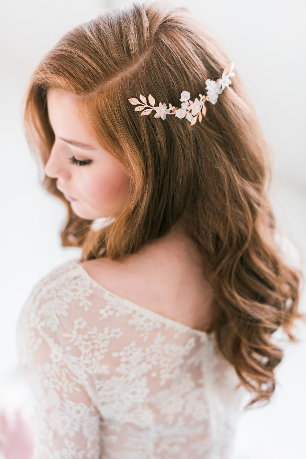 bridal hair accessories hair down styles | designed by tessa kim | photo by deyla huss