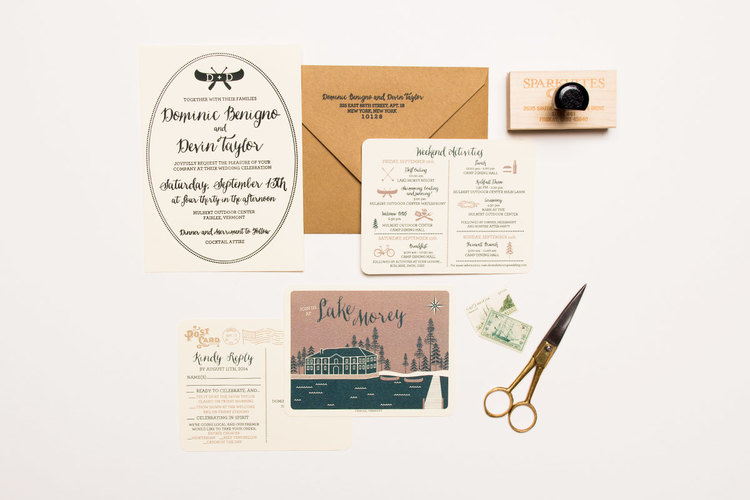 custom wedding invites by sparkvites