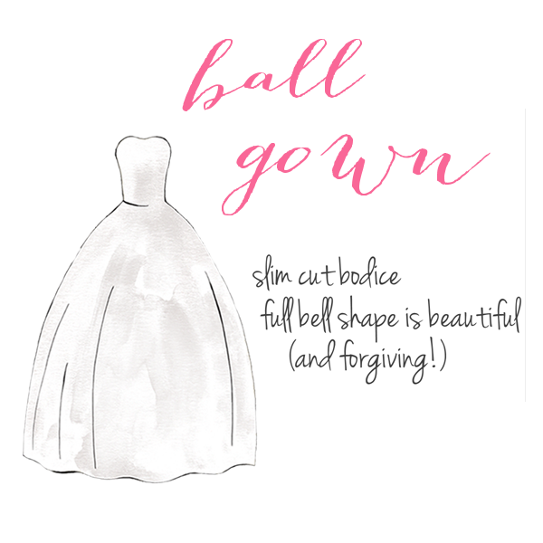 Ball Gown | How to Choose a Wedding Dress for Your Body Type