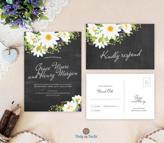 Cheap Wedding Invitations With Rsvp Card