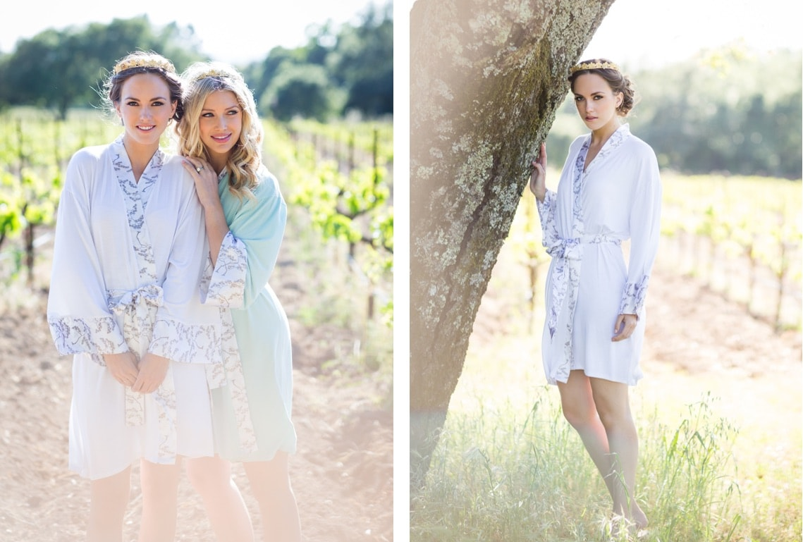 Lounge robe for the bride by Doie Lounge