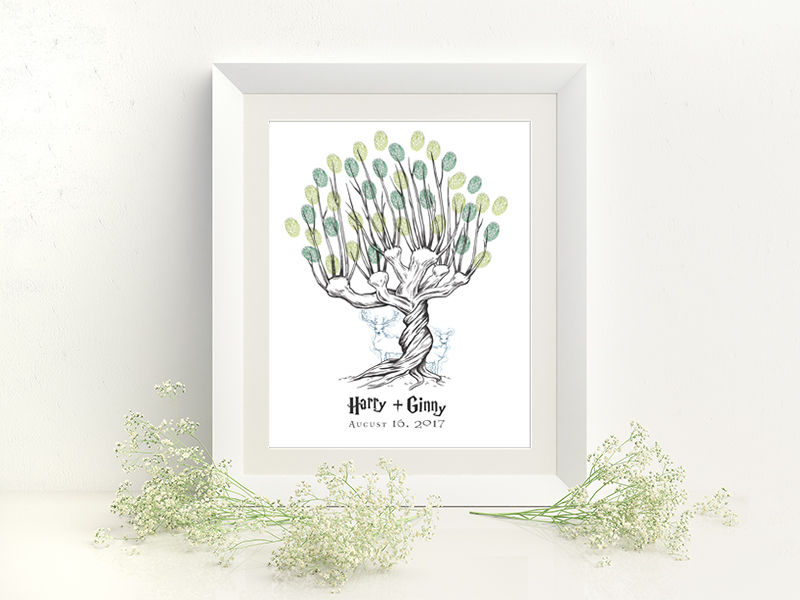 free thumbprint tree guest book by arcadia artistry