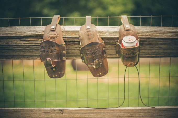 leather drink holster by Drink Slings