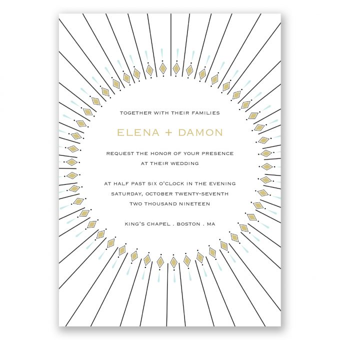 art deco wedding invitations - where to buy affordable wedding invitations