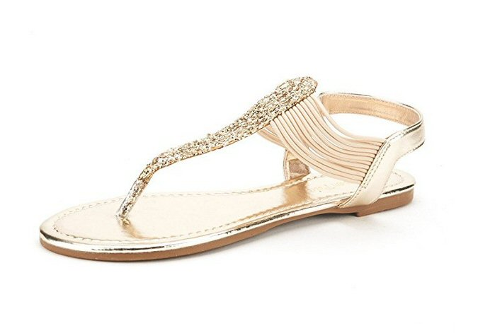 gold gladiator sandals - most comfortable wedding shoes