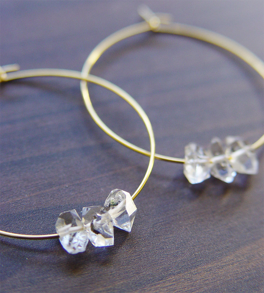 herkimer diamond necklace and earrings | via http://etsy.me/2teyINF