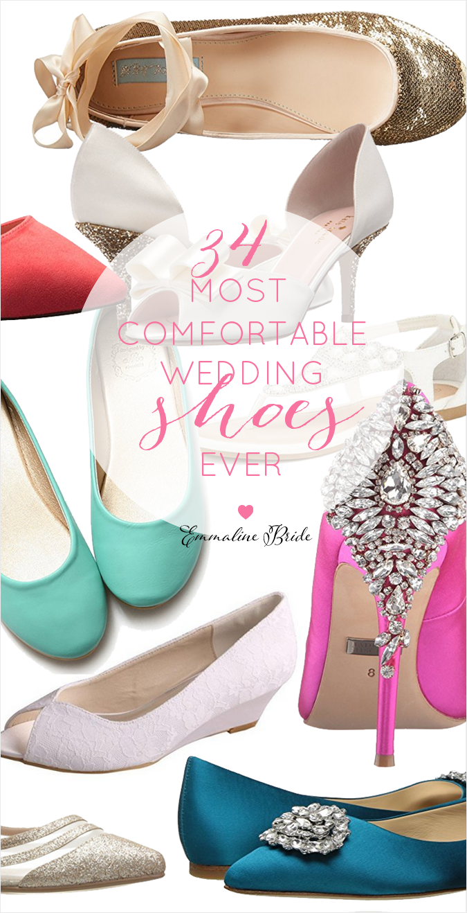34 Cute Most Comfortable Wedding Shoes Flats Wedges Heels