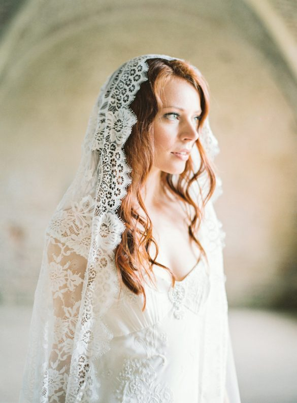 mantilla wedding veil by sibo designs