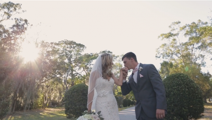 Watch Skylar + Jared's Breathtaking Wedding Film at the Mackay Gardens - http://emmalinebride.com/real-weddings/ mackay-gardens-wedding-film | Baby Blue Film - Florida Wedding Videographer