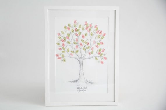 fingerprint guest book tree