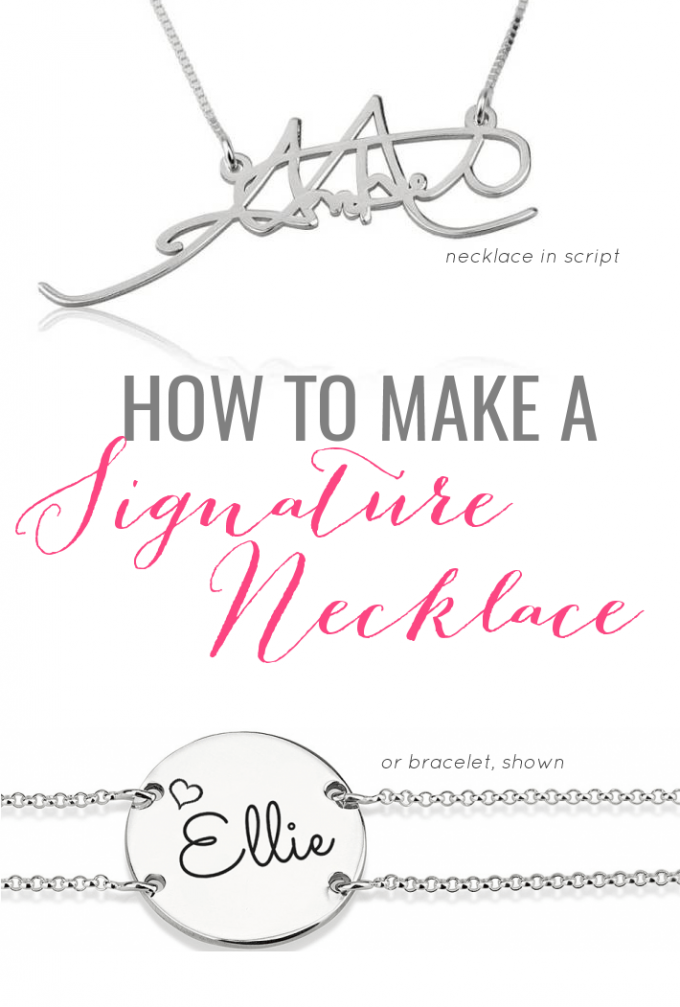 How to Make a Signature Necklace from Actual Handwriting