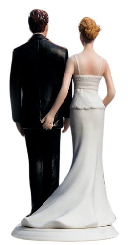best cake toppers for weddings - funny love pinch cake topper