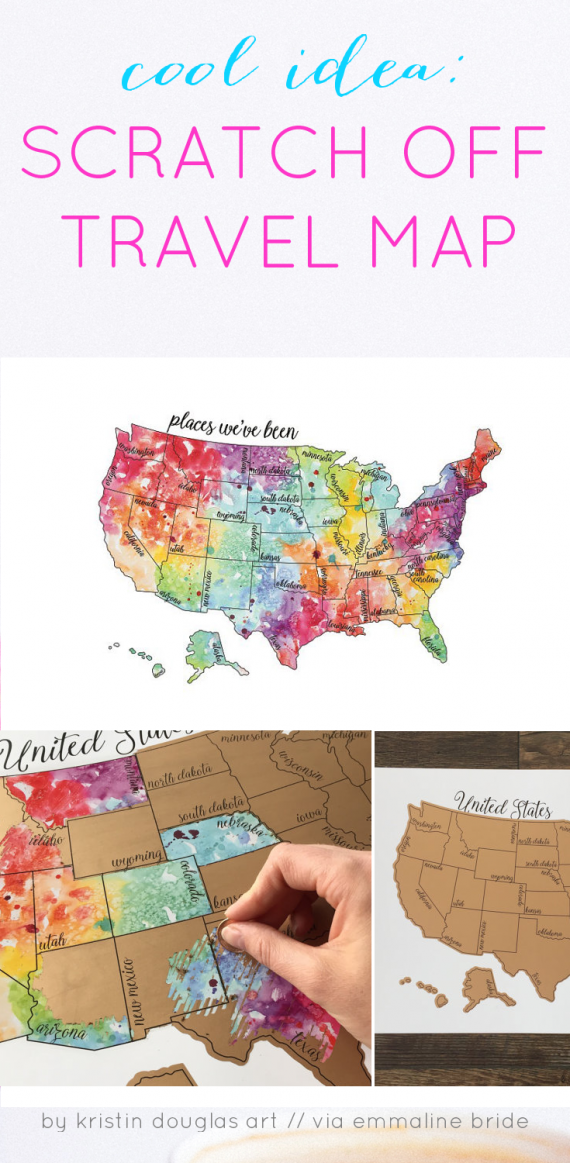 Scratch Off Map for Travel - Handmade-a-Day | Emmaline Bride®