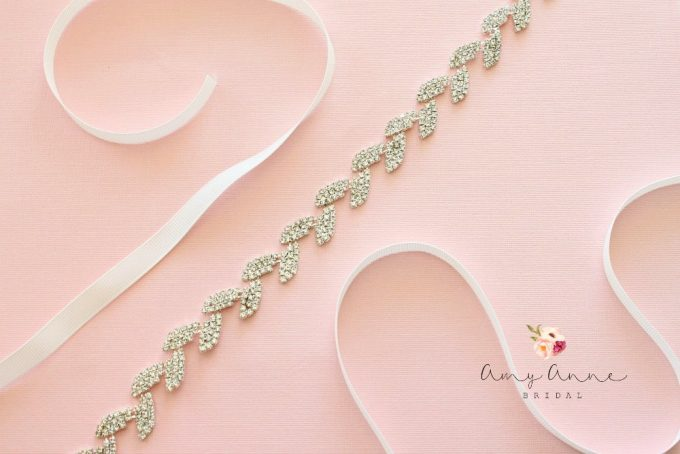 rhinestone wedding dress sash