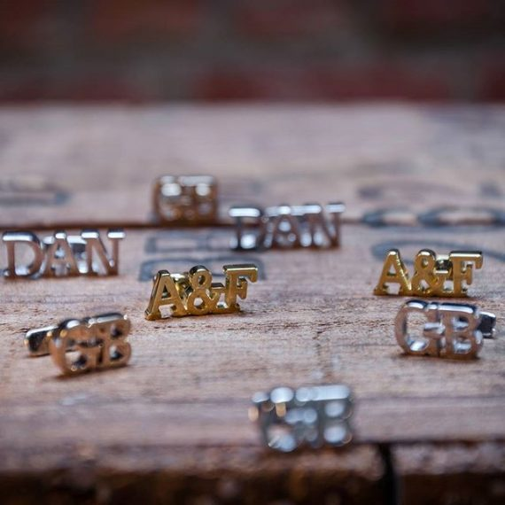 custom cufflinks for the groom - gregson & buck