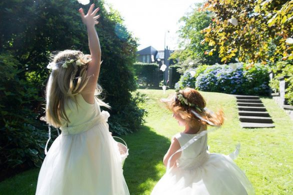 flower girl dress by olive and fern // via Does flower girl stand during ceremony? - Wedding Advice