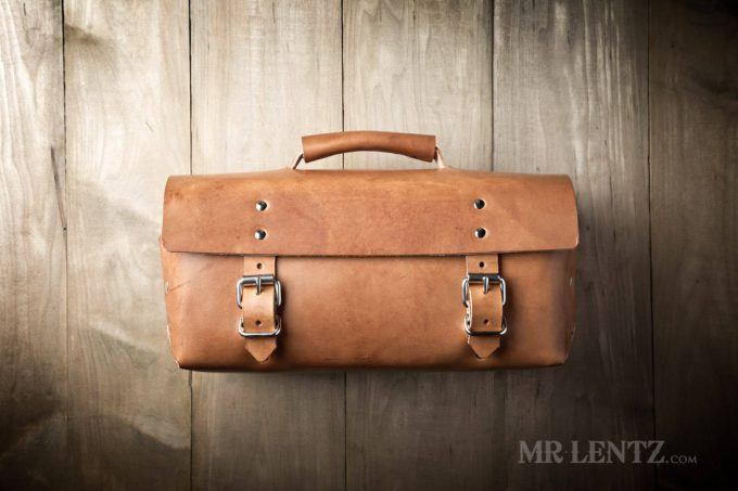 leather bag for the groom
