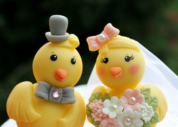 chick cake topper