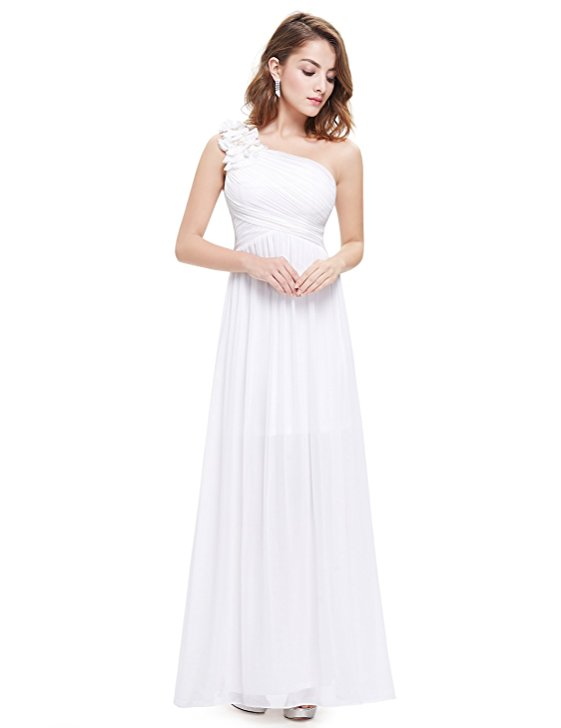 12 cheap wedding dresses under 100 emmaline bride this dress is a beautiful floor length one shoulder style dress with flower embellishment its called a bridesmaid dress but no one will really know the junglespirit Images