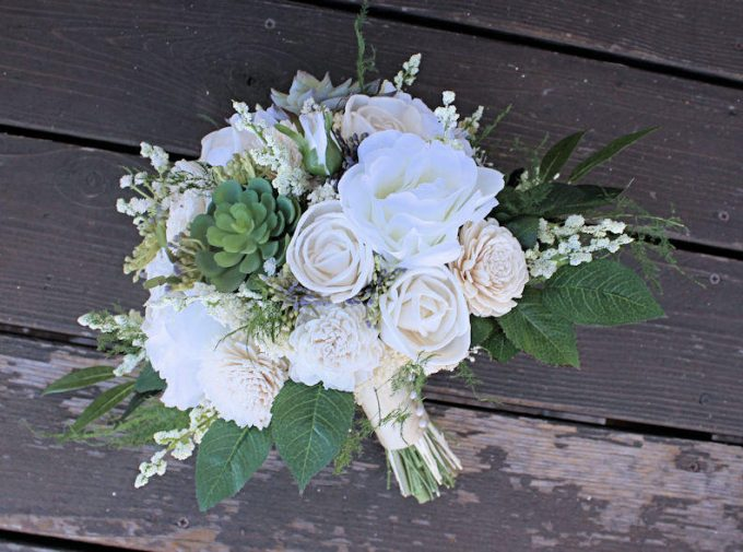 silk and sola flower bouquet