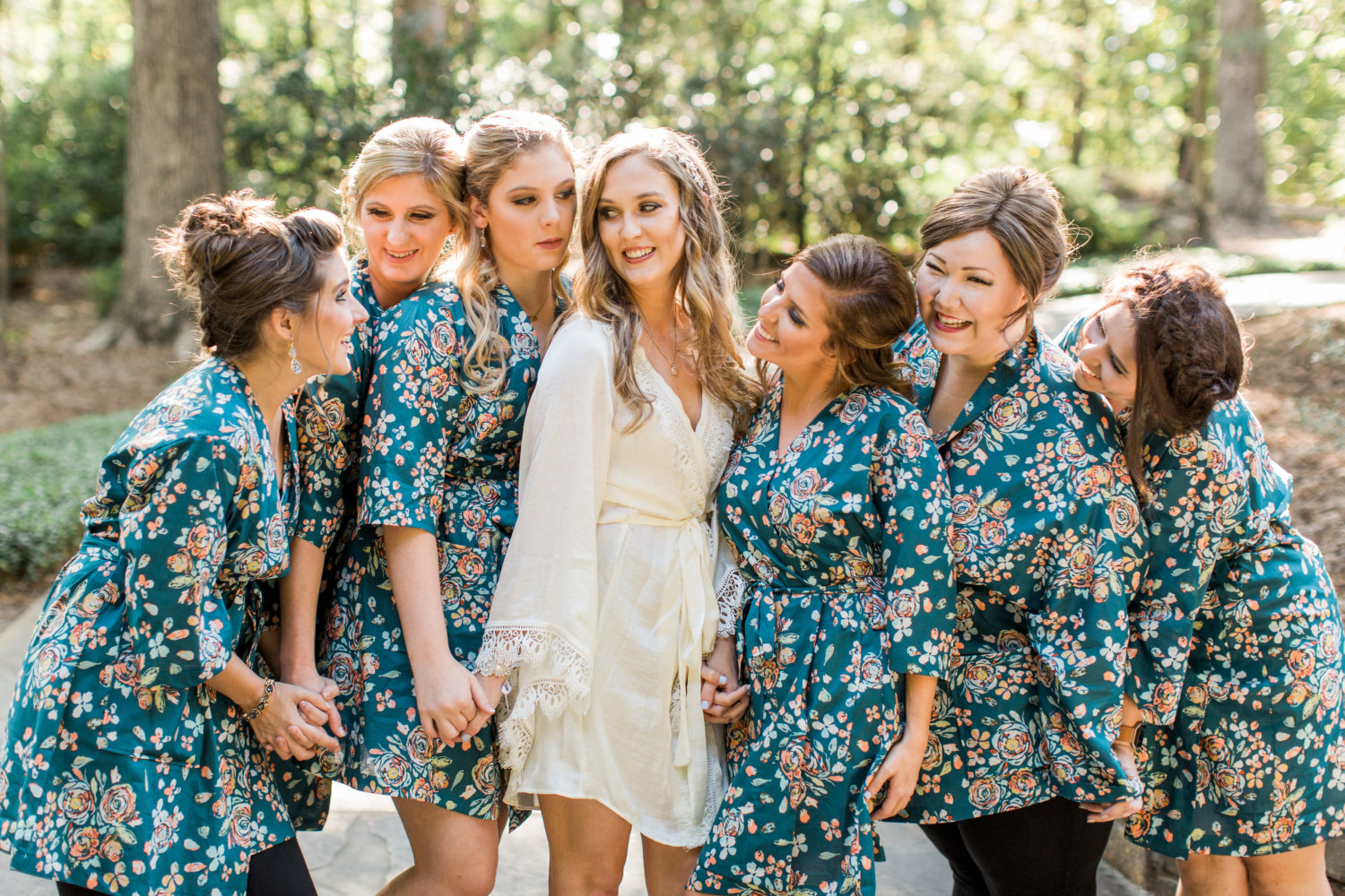 where to buy floral bridesmaid robes