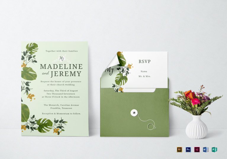 picture relating to Printable Wedding Invitation Templates named 10 Great Printable Marriage Invitation Templates inside PSD, Phrase