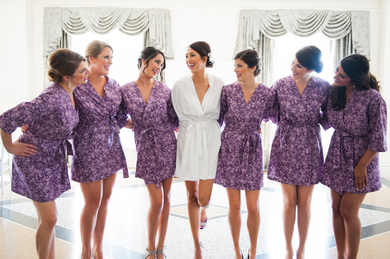 Purple Floral Bridesmaid Robes Off 70 Buy