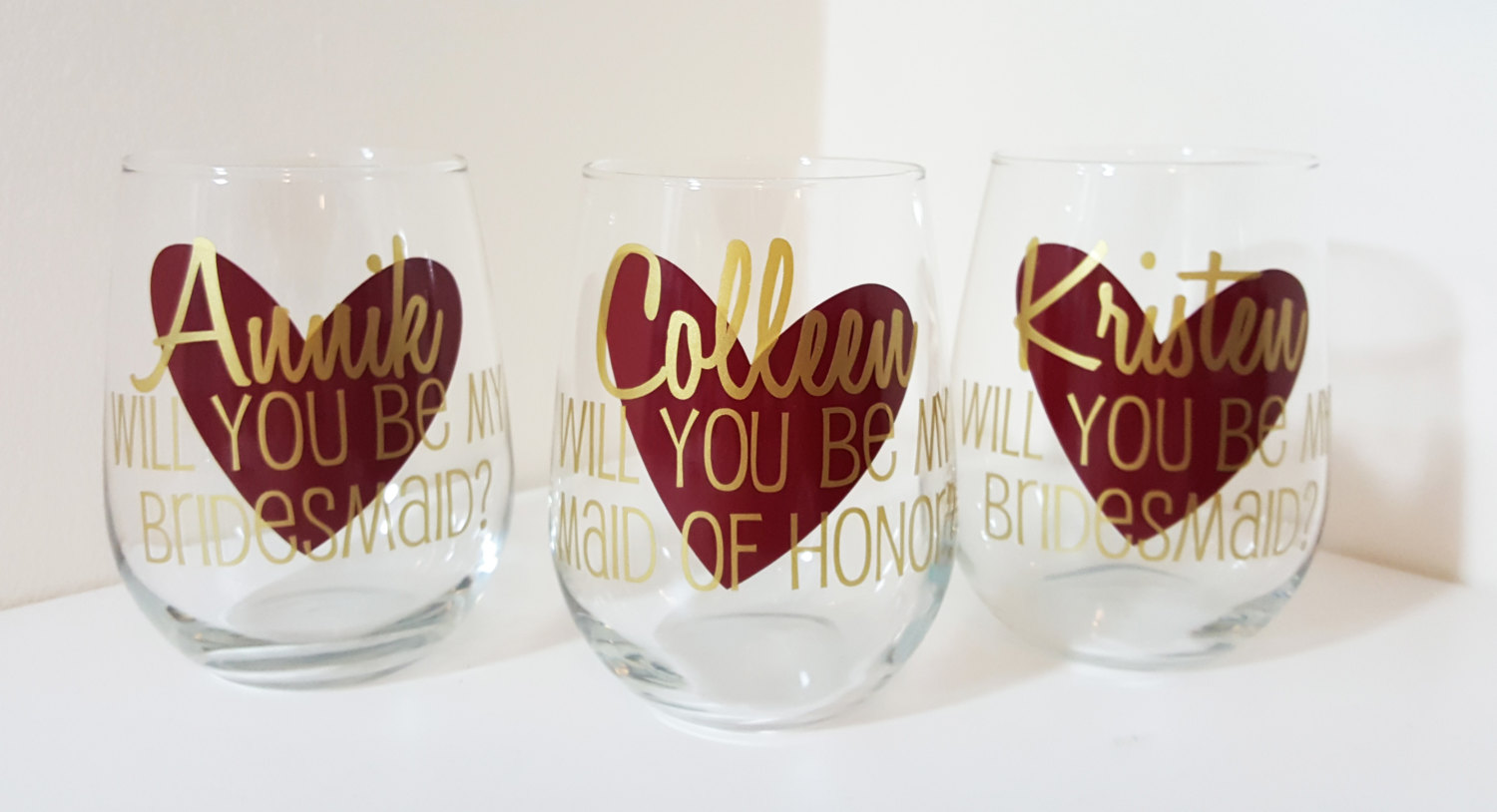 wedding wine glasses