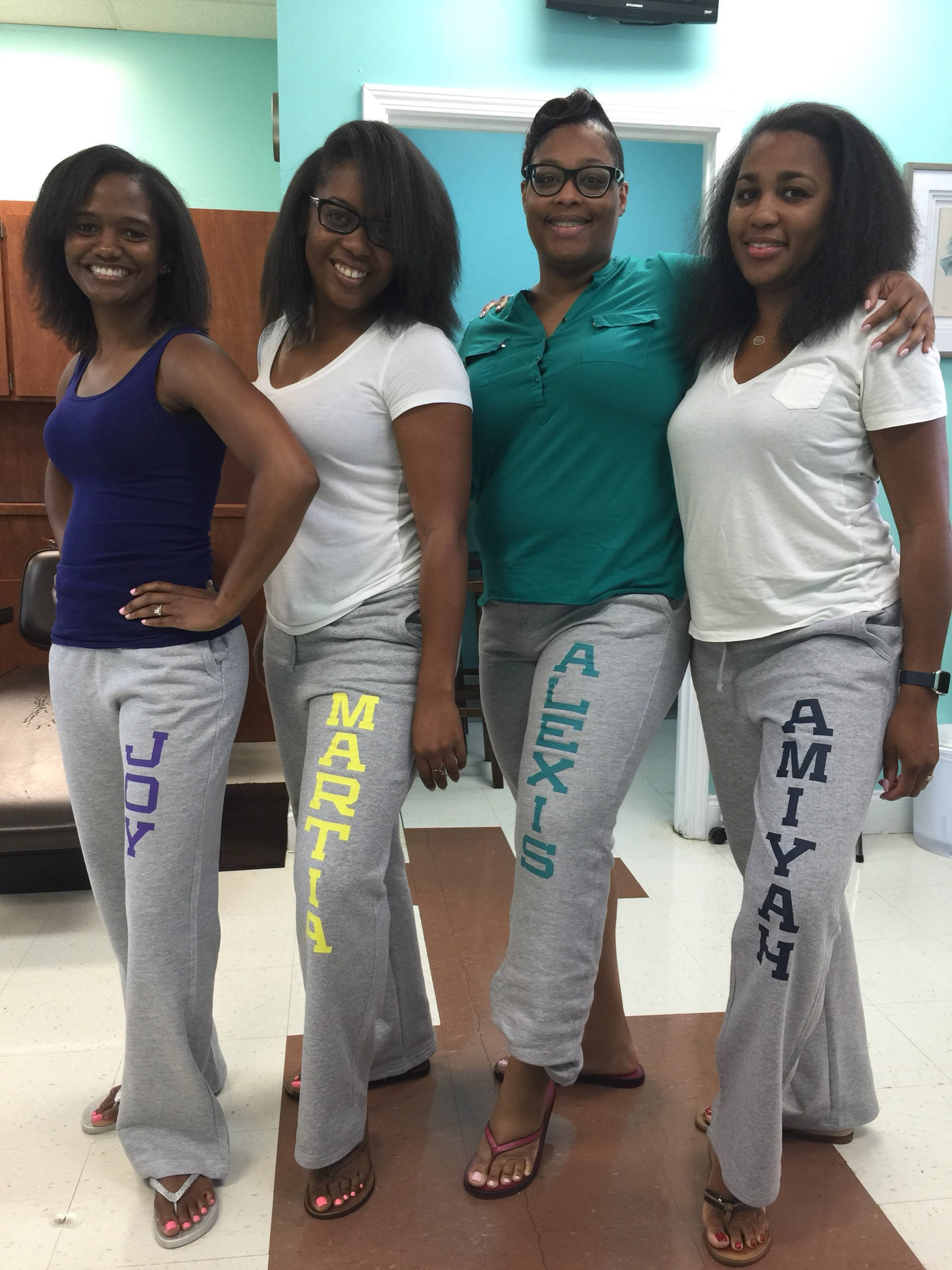 custom sweatpants for bridesmaids
