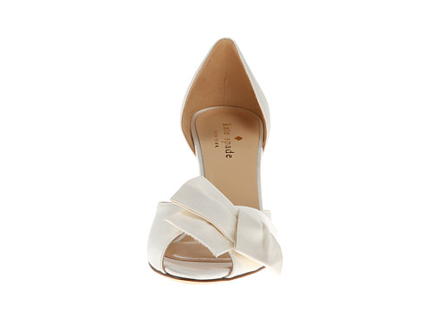 low wedding heels in ivory