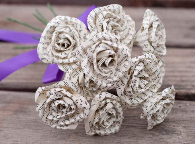 where to buy paper roses bouquet