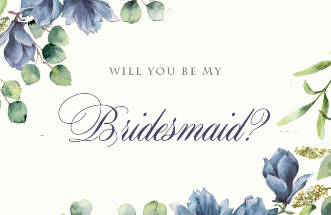 graphic about Free Printable Bridesmaid Proposal named No cost Be My Bridesmaid Playing cards: Printable Will Oneself Be My