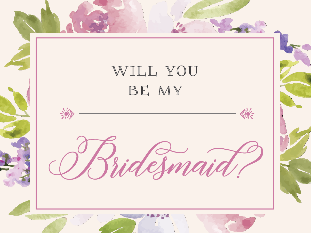 FREE Be My Bridesmaid Cards: Printable Will You Be My Bridesmaid Card Pertaining To Will You Be My Bridesmaid Card Template