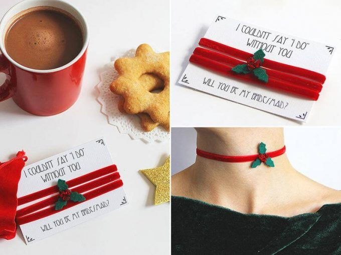 christmas choker necklace